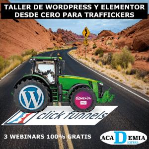 Taller de WordPress y Elementor Pro desde Cero para Traffickers