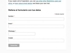 Tutorial: Como crear un formulario en Mailchimp e integrarlo en el cuerpo de un email
